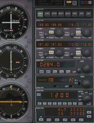 Desktop Aviator's Model 2660 NAV/COM Radio Switch Panel Just